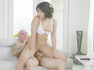 Teen gets cop cock to clandestinely her tight pussy
